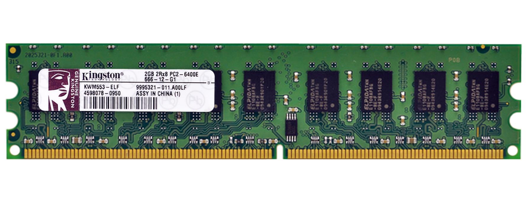 9995321 011a00lf Kingston 2gb Ddr2 Pc6400 Memory Memori Pc Pc2 6400 A00lf 800mhz Ecc Unbuffered Cl6