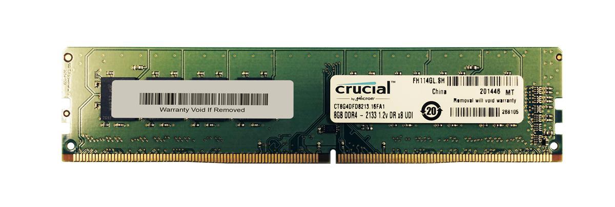 1 x 8GB DDR4 2133 PC4 17000 SDRAM Dekstop RAM Micron Crucial CT8G4DFD8213 8GB