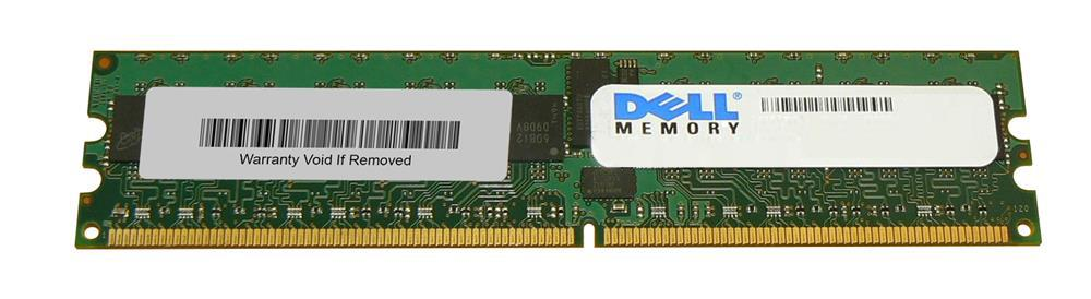 D2696 Dell 2GB PC2-3200 DDR2-400MHz ECC Registered CL3 240-Pin DIMM Dual Rank Memory Module