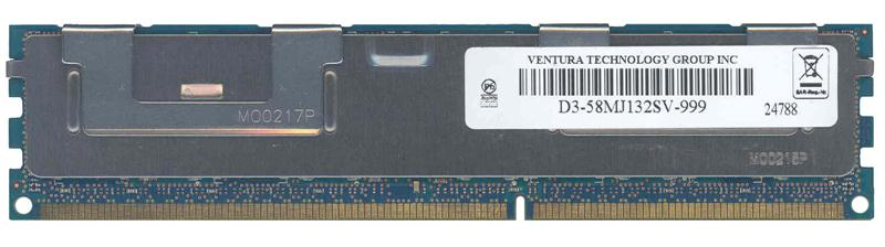 D3-58MJ132SV-999 Ventura 4GB PC3-10600 DDR3-1333MHz ECC Registered CL9 240-Pin DIMM 1.35V Low Voltage Dual Rank Memory Module