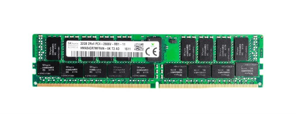 HMA84GR7MFR4N-VKT3 Hynix 32GB PC4-21300 DDR4-2666MHz ECC Registered CL19 288-Pin DIMM 1.2V Dual Rank Memory Module