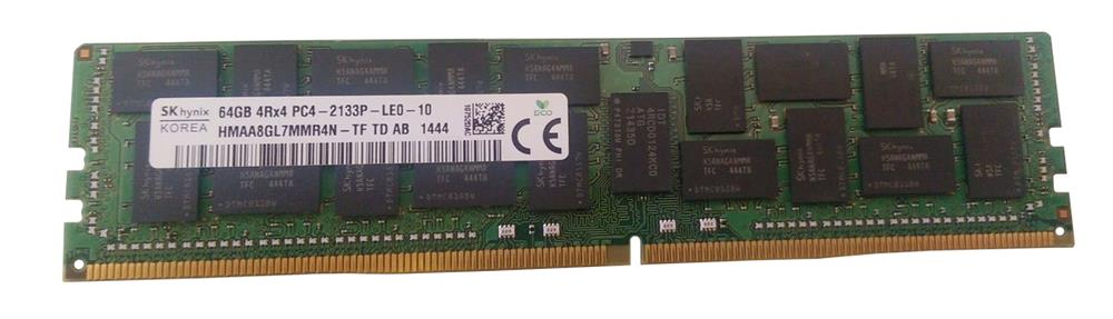 HMAA8GL7MMR4N-TF Hynix 64GB PC4-17000 DDR4-2133MHz ECC Registered CL15 288-Pin Load Reduced DIMM 1.2V Quad Rank Memory Module