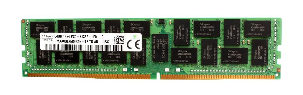 HMAA8GL7MMR4N-TFTD Hynix 64GB PC4-17000 DDR4-2133MHz ECC Registered CL15 288-Pin Load Reduced DIMM 1.2V Quad Rank Memory Module