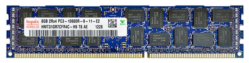 Hynix 8GB PC3-10600 DDR3-1333MHz ECC Registered CL9 240-Pin DIMM Dual Rank Memory Module Mfr P/N HMT31GR7CFR4C-H9