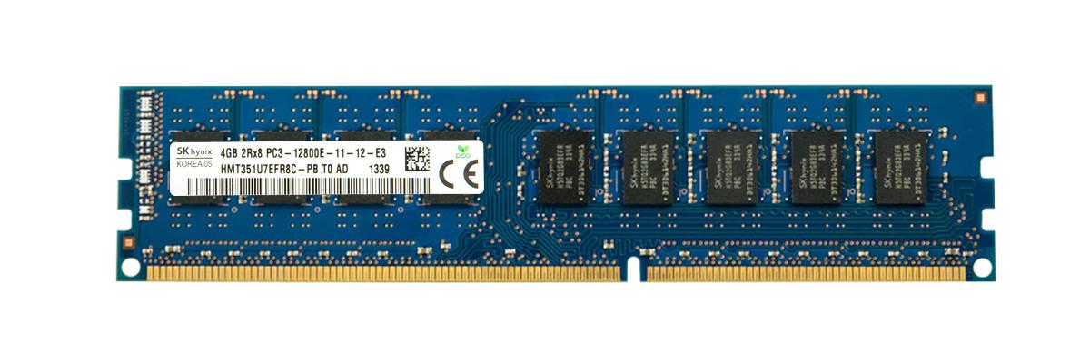 Hynix 4GB PC3-12800 DDR3-1600MHz ECC Unbuffered CL11 240-Pin DIMM Dual Rank Memory Module Mfr P/N HMT351U7EFR8C-PB