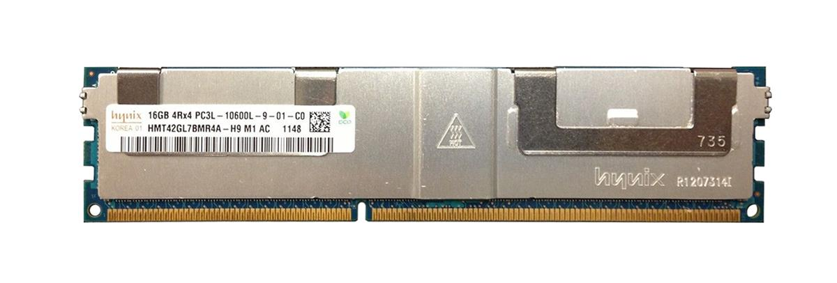 HMT42GL7BMR4A-H9M1 Hynix 16GB PC3-10600 DDR3-1333MHz ECC Registered CL9 240-Pin Load Reduced DIMM 1.35V Low Voltage Quad Rank Memory Module