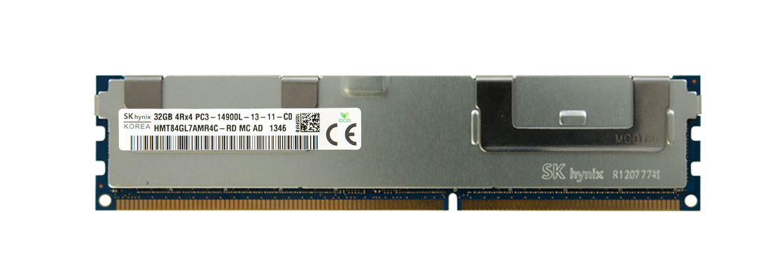 HMT84GL7AMR4C-RD Hynix 32GB PC3-14900 DDR3-1866MHz ECC Registered CL13 240-Pin Load Reduced DIMM Quad Rank Memory Module