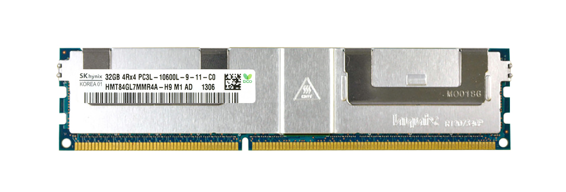 HMT84GL7MMR4A-H9 Hynix 32GB PC3-10600 DDR3-1333MHz ECC Registered CL9 240-Pin Load Reduced DIMM 1.35V Low Voltage Quad Rank Memory Module