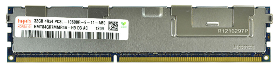 M4L Certified 32GB 1333MHz DDR3 PC3-10600 Reg ECC CL9 240-Pin Quad Rank x4 1.35V Low Voltage DIMM Mfr P/N M4L-PC313LR9Q4-32