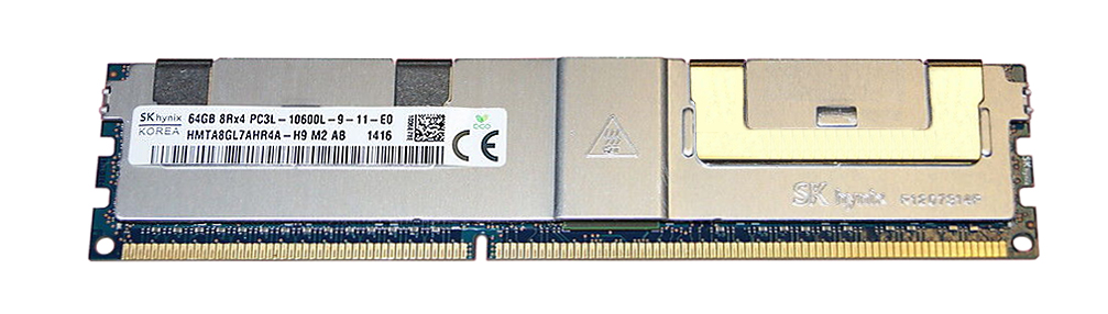 HMTA8GL7AHR4A-H9M2-AB Hynix 64GB PC3-10600 DDR3-1333MHz ECC Registered CL9 240-Pin Load Reduced DIMM 1.35V Low Voltage Octal Rank Memory Module