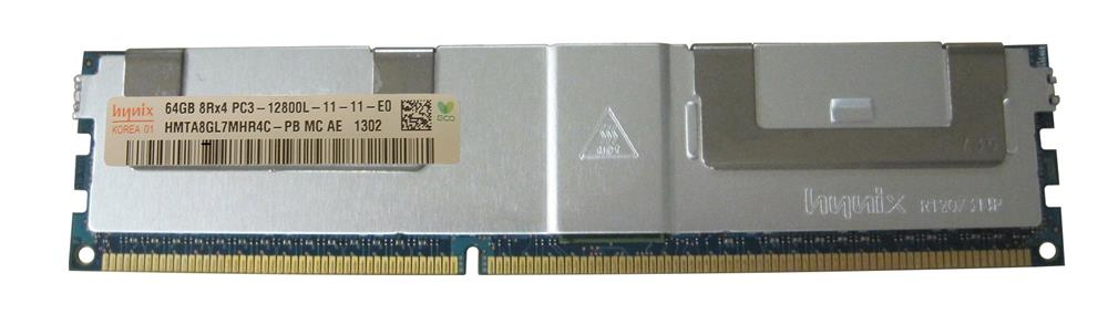 HMTA8GL7MHR4C-PBMC-AE Hynix 64GB PC3-12800 DDR3-1600MHz ECC Registered CL11 240-Pin Load Reduced DIMM Octal Rank Memory Module