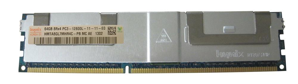 HMTA8GL7MHR4C-PBMC Hynix 64GB PC3-12800 DDR3-1600MHz ECC Registered CL11 240-Pin Load Reduced DIMM Octal Rank Memory Module