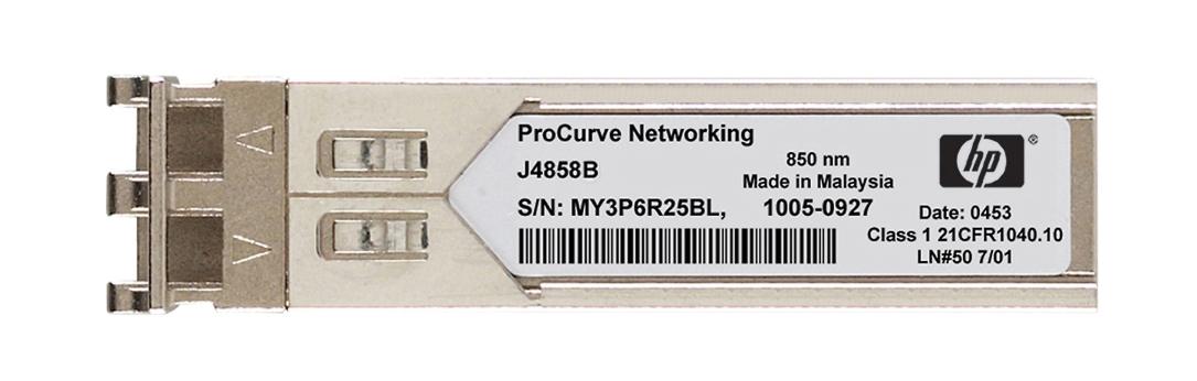 HP ProCurve X121 GigaBit-SX-LC SFP Mini-GBIC 850nm Transceiver Module Mfr P/N J4858-61001