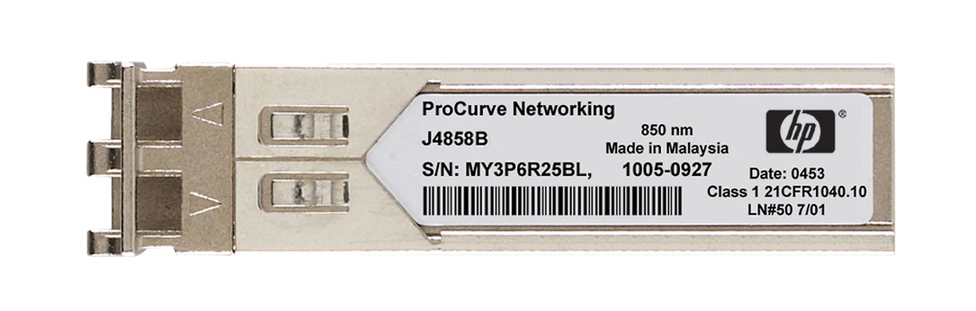 HP ProCurve X121 1Gbps 1000Base-SX Multi-Mode Fibre 50m 850nm Duplex LC Connector SFP (Mini-GBIC) Transceiver Module Mfr P/N J4858-61001