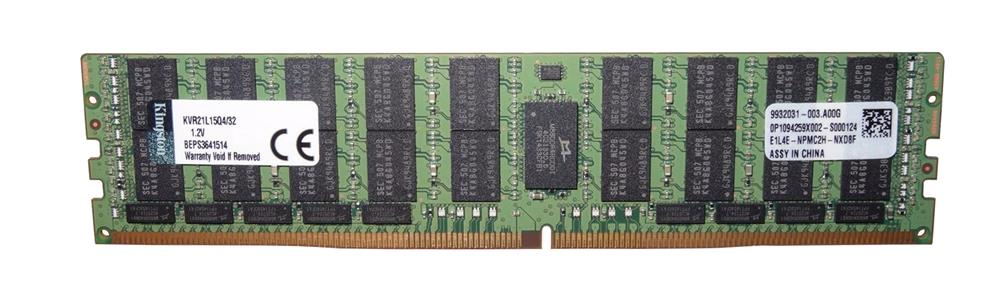 KVR21L15Q4/32 Kingston 32GB PC4-17000 DDR4-2133MHz ECC Registered CL15 288-Pin Load Reduced DIMM 1.2V Quad Rank Memory Module