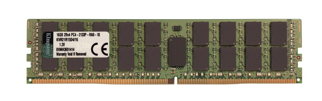 KVR21R15D4/16 Kingston 16GB PC4-17000 DDR4-2133MHz Registered ECC CL15 288-Pin DIMM 1.2V Dual Rank Memory Module w/TS