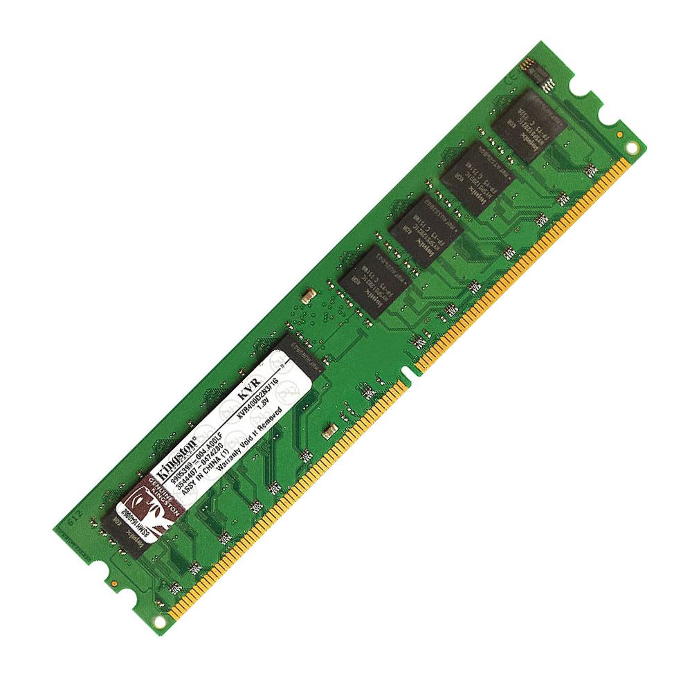 Kingston 1GB PC2-3200 DDR2-400MHz non-ECC Unbuffered CL3 240-Pin DIMM Memory Module Mfr P/N KVR400D2N3/1G