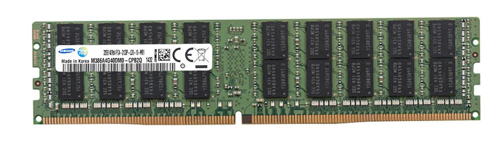 M386A4G40DM0-CPB2Q Samsung 32GB PC4-17000 DDR4-2133MHz ECC Registered CL15 288-Pin Load Reduced DIMM 1.2V Quad Rank Memory Module