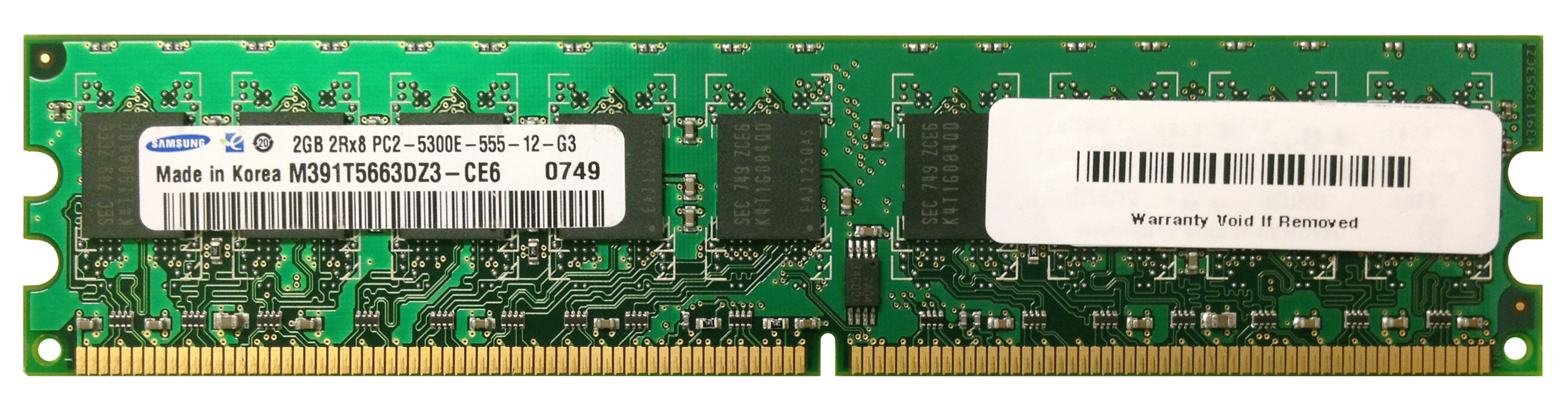 M4L-PC2667D2E5-2G M4L Certified 2GB 667MHz DDR2 PC2-5300 ECC CL5 240-Pin Dual Rank x8 DIMM
