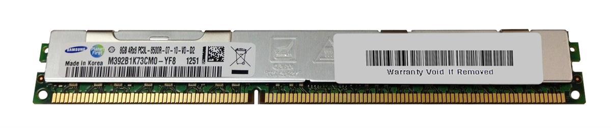 M4L Certified 8GB 1066MHz DDR3 PC3-8500 Reg ECC CL7 240-Pin Quad Rank x8 VLP 1.35V Low Voltage DIMM Mfr P/N M4L-PC31066RD3Q87DVL-8G