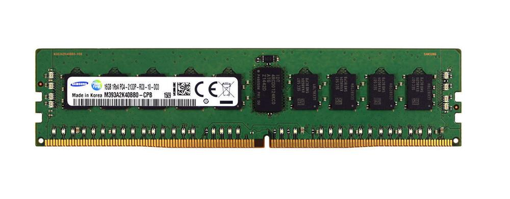 M393A2K40BB0-CPB Samsung 16GB PC4-17000 DDR4-2133MHz Registered ECC CL15 288-Pin DIMM 1.2V Single Rank Memory Module