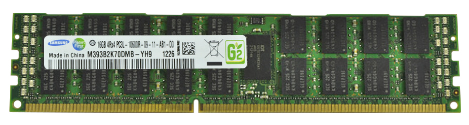 M4L Certified 16GB 1333MHz DDR3 PC3-10600 Reg ECC CL9 240-Pin Quad Rank x4 1.35V Low Voltage DIMM Mfr P/N M4L-PC31333RD3Q49DL-16G