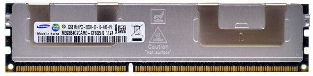 M393B4G70AM0-CF8 Samsung 32GB PC3-8500 DDR3-1066MHz ECC Registered CL7 240-Pin DIMM Quad Rank Memory Module