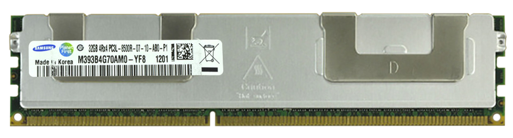 M4L-PC31066RD3Q47DL-32G M4L Certified 32GB 1066MHz DDR3 PC3-8500 Reg ECC CL7 240-Pin Quad Rank x4 1.35V Low Voltage DIMM