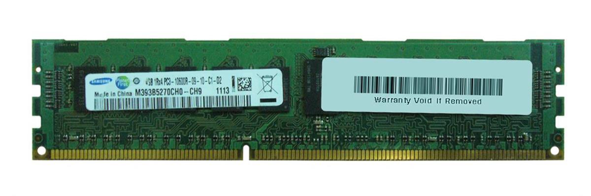 Samsung 4GB PC3-10600 DDR3-1333MHz ECC Registered CL9 240-Pin DIMM Single Rank Memory Module Mfr P/N M393B5270CH0-CH9