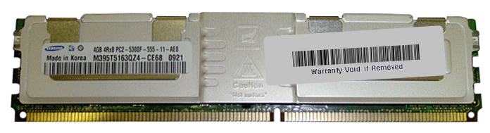 M4L Certified 4GB 667MHz DDR2 PC2-5300 Fully Buffered ECC CL5 240-Pin Quad Rank x8 DIMM Mfr P/N M4L-PC2667ED2Q8F5D-4G