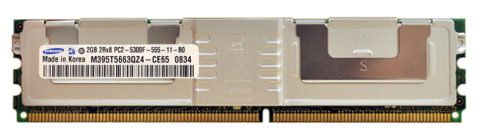 M4L Certified 2GB 667MHz DDR2 PC2-5300 Fully Buffered ECC CL5 240-Pin Dual Rank x8 DIMM Mfr P/N M4L-PC2667ED2D85FD-2G