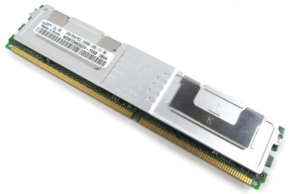 M4L Certified 2GB 667MHz DDR2 PC2-5300 Fully Buffered ECC CL5 240-Pin Dual Rank x8 1.55V Low Voltage DIMM Mfr P/N M4L-PC2667ED2D8F5DL-2G
