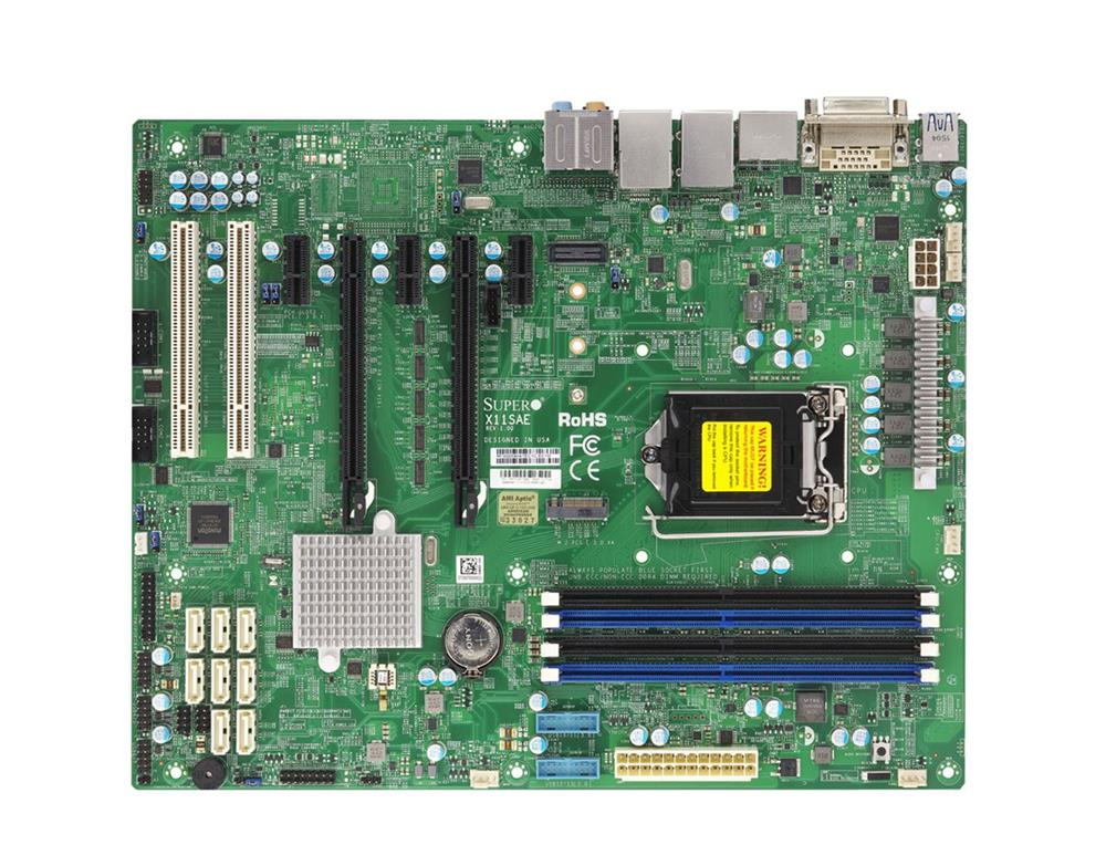 MB-X11SAEB SuperMicro X11SAE Socket H4 LGA 1151 Xeon E3-1200 v5 / v6 Intel C236 Chipset DDR4 4 x DIMM 8 x SATA 6Gbps ATX Server Motherboard (Refurbished)