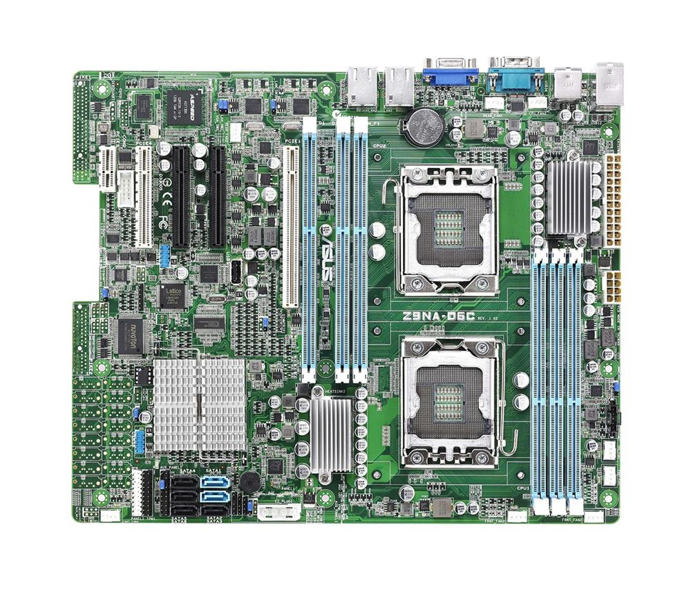 MB-Z9NAD6C ASUS Z9NA-D6C Dual Socket LGA 1356 Intel C602-A Chipset Xeon E5-2400/ E5/2400 v2 Processors Support DDR3 6x DIMM 4x SATA2 3.0Gb/s ATX Server Motherboard (Refurbished)