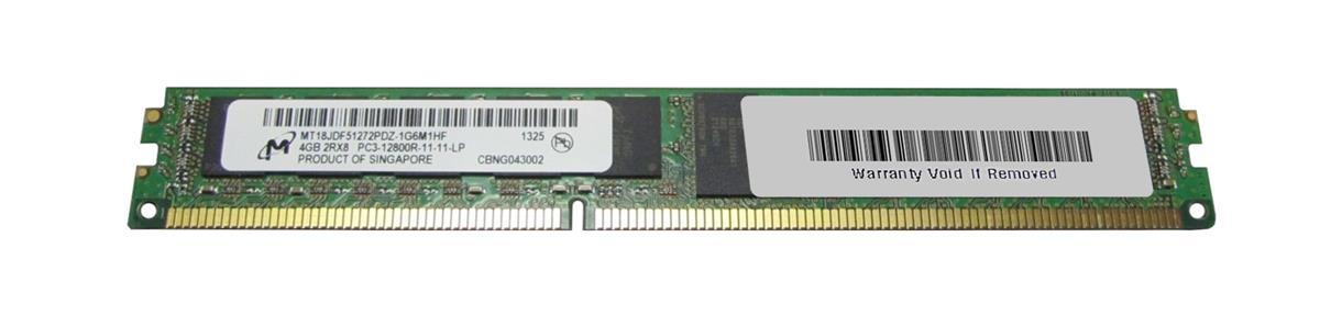 M4L Certified 4GB 1600MHz DDR3 PC3-12800 Reg ECC CL11 240-Pin Dual Rank x8 VLP DIMM Mfr P/N M4L-PC31600RD3D811DV-4G