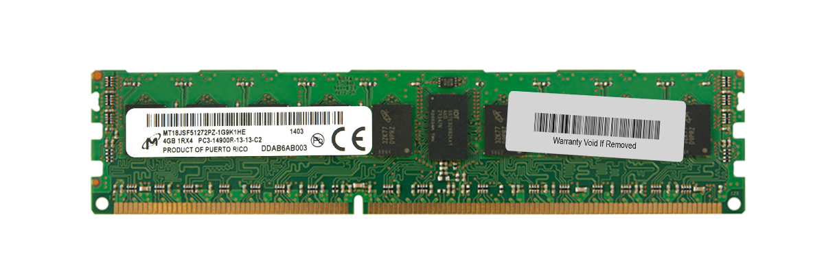 M4L Certified 4GB 1866MHz DDR3 PC3-14900 Reg ECC CL13 240-Pin Single Rank x4 DIMM Mfr P/N M4L-PC31866RD3S414G