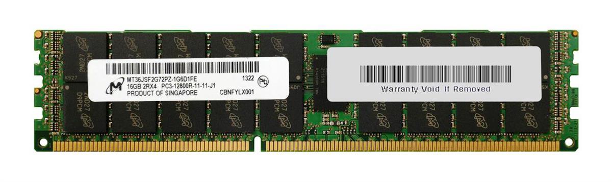 Micron MT36JSF2G72PZ-1G6 16GB PC3-12800R DDR3 Server Memory