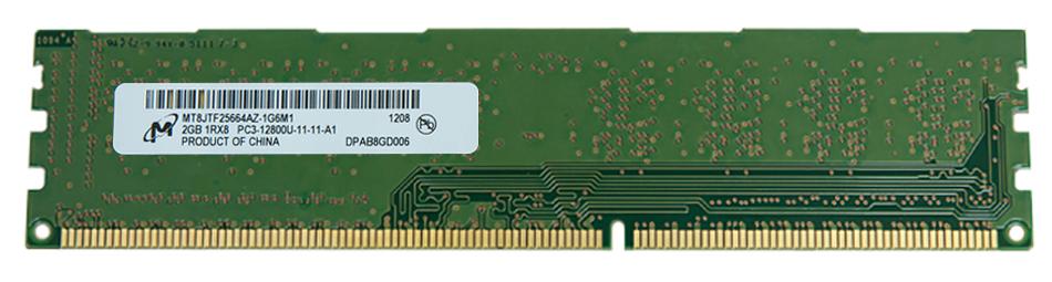 M4L Certified 2GB 1600MHz DDR3 PC3-12800 Non-ECC CL11 240-Pin Single Rank x8 DIMM Mfr P/N M4L-PC316N11-2G