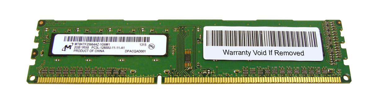 M4L Certified 2GB 1600MHz DDR3 PC3-12800 Non-ECC CL11 240-Pin Single Rank x8 1.35V Low Voltage DIMM Mfr P/N M4L-PC31600ND3S811DL-2G