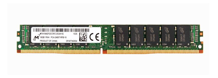 MTA18ADF2G72PZ-2G3A1 Micron 16GB PC4-19200 DDR4-2400MHz ECC Registered CL17 288-Pin DIMM Very Low Profile (VLP) 1.2V Single Rank Memory Module