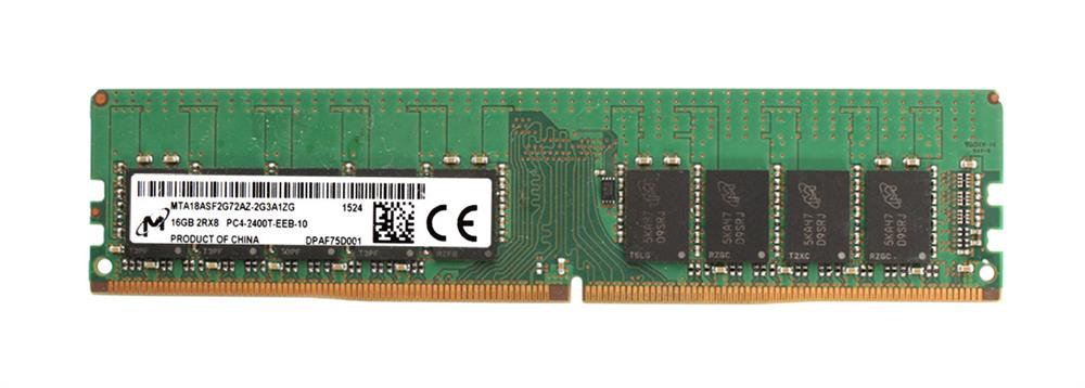 MTA18ASF2G72AZ-2G3 Micron 16GB PC4-19200 DDR4-2400MHz ECC Unbuffered CL17 288-Pin DIMM 1.2V Dual Rank Memory Module