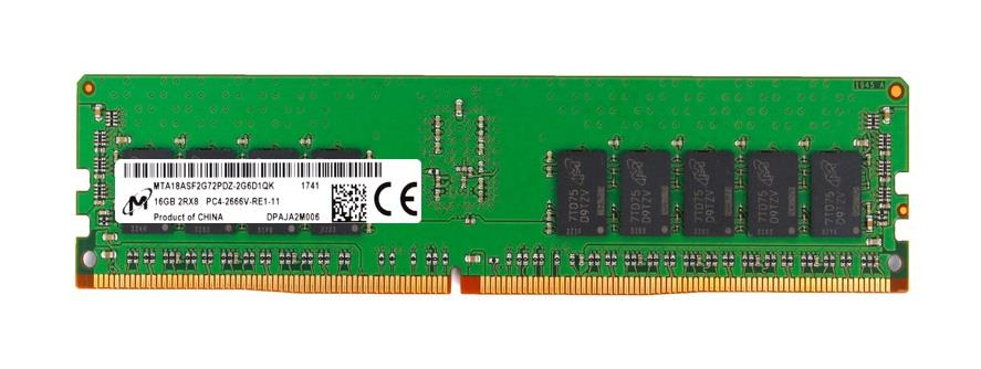 MTA18ASF2G72PDZ-2G6D1 Micron 16GB PC4-21300 DDR4-2666MHz ECC Registered CL19 288-Pin DIMM 1.2V Dual Rank Memory Module