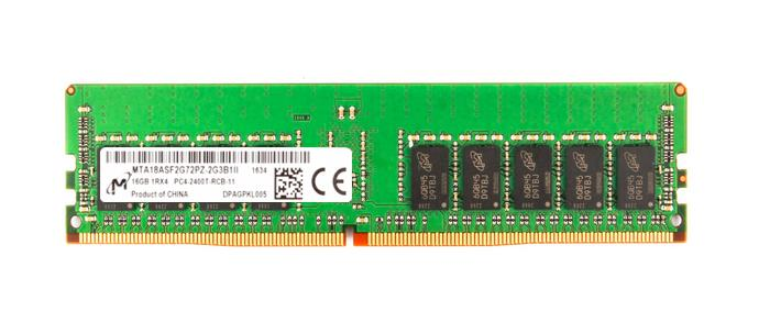 MTA18ASF2G72PZ-2G3 Micron 16GB PC4-19200 DDR4-2400MHz ECC Registered CL17 288-Pin DIMM 1.2V Single Rank Memory Module