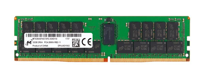 MTA36ASF4G72PZ-2G6D1 Micron 32GB PC4-21300 DDR4-2666MHz ECC Registered CL19 288-Pin DIMM 1.2V Dual Rank Memory Module