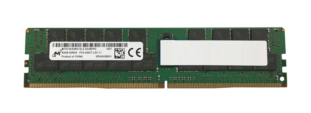 MTA72ASS8G72LZ-2G3 Micron 64GB PC4-19200 DDR4-2400MHz ECC Registered CL17 288-Pin Load Reduced DIMM 1.2V Quad Rank Memory Module