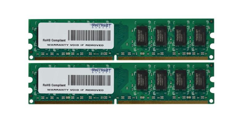 Patriot 4GB Kit (2 X 2GB) PC2-5300 DDR2-667MHz non-ECC Unbuffered CL5 240-Pin DIMM Memory Mfr P/N PSD24G667K