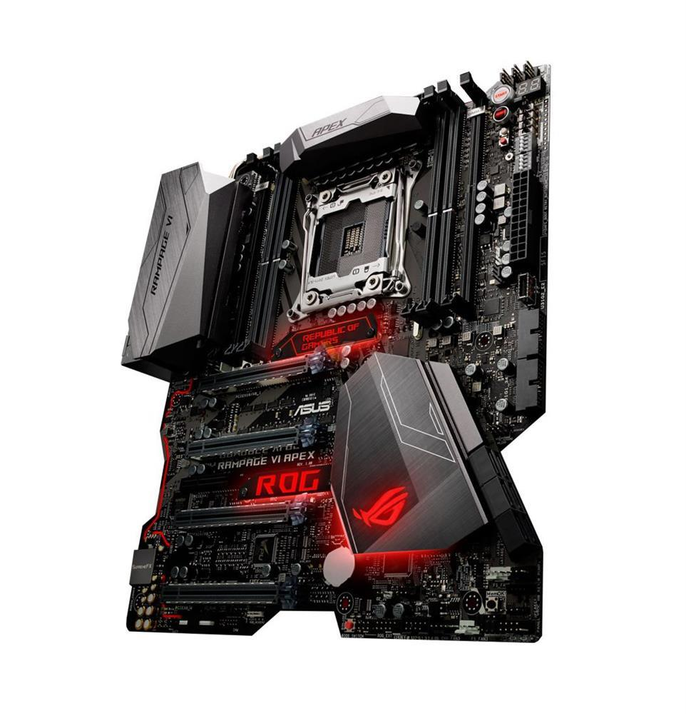 ROG RAMPAGE VI APEX Asus Socket 2066 Intel X299 Chipset Core X-Series Processors Support DDR4 4x DIMM 6x SATA Extended-ATX Motherboard (Refurbished)