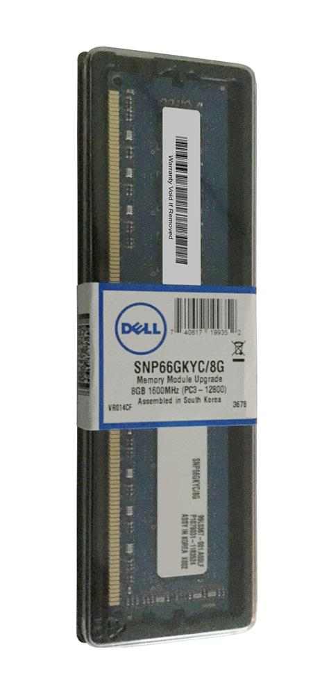 SNP66GKYC Dell 8GB PC3-12800 DDR3-1600MHz non-ECC Unbuffered CL11 240-Pin DIMM Dual Rank Memory Module