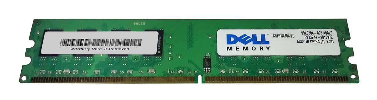 Dell 2GB PC2-6400 DDR2-800MHz non-ECC Unbuffered CL6 240-Pin DIMM Memory Module Mfr P/N SNPYG410C/2G