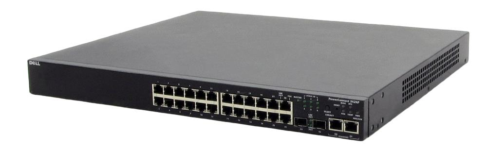 Dell PowerConnect 3424P 24-Ports 10/100 Fast Ethernet Managed Switch (Refurbished) Mfr P/N Y4654